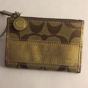 Coach Card Wallet w/ Key Ring
